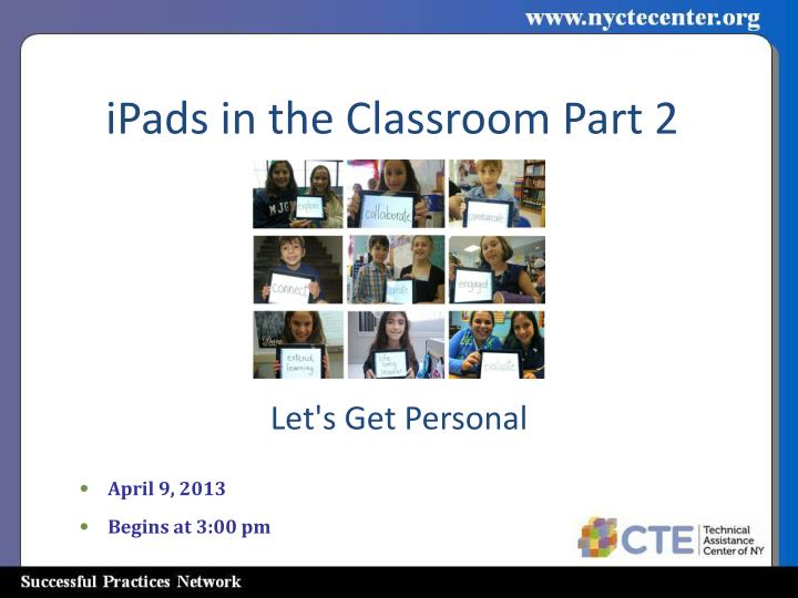 ipads in the classroom part 2 n.