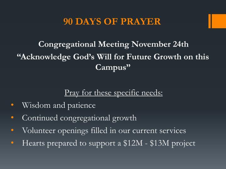 90 Days of Prayer