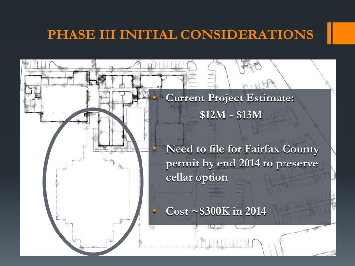 Phase III initial considerations