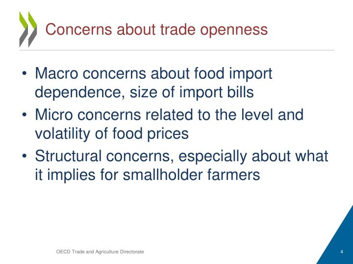 Concerns about trade openness