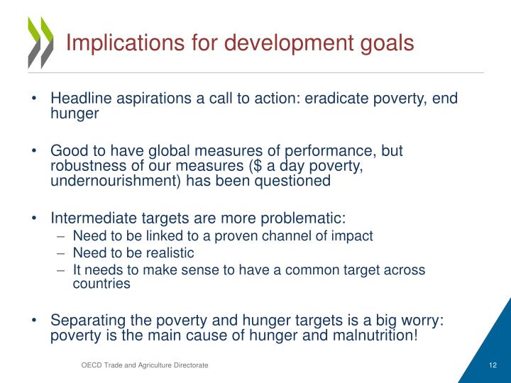 Implications for development goals