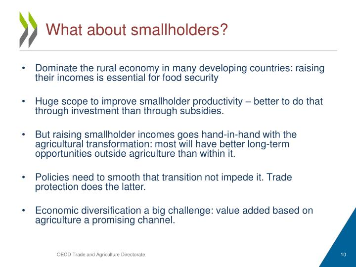 What about smallholders?