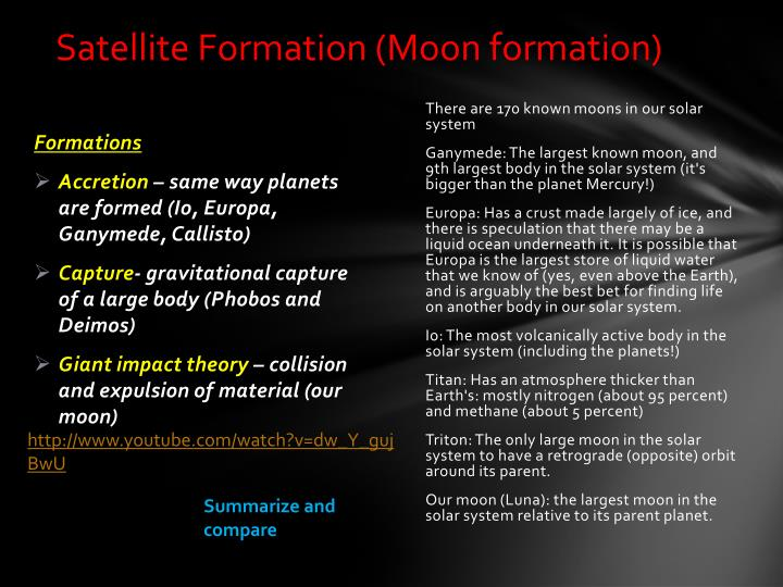 Satellite Formation (Moon formation)