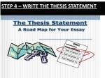 step 4 write the thesis statement