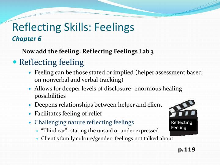 Reflecting skills feelings chapter 6