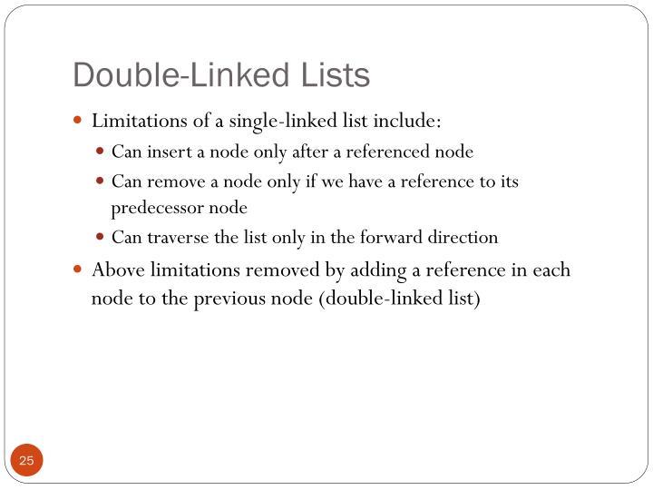 Double-Linked Lists