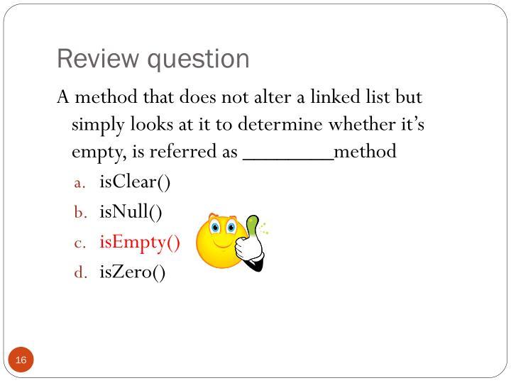 Review question