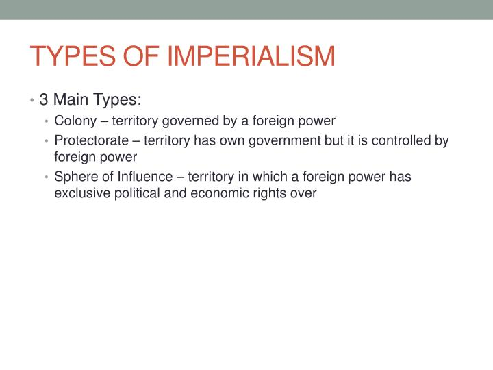 Types of imperialism