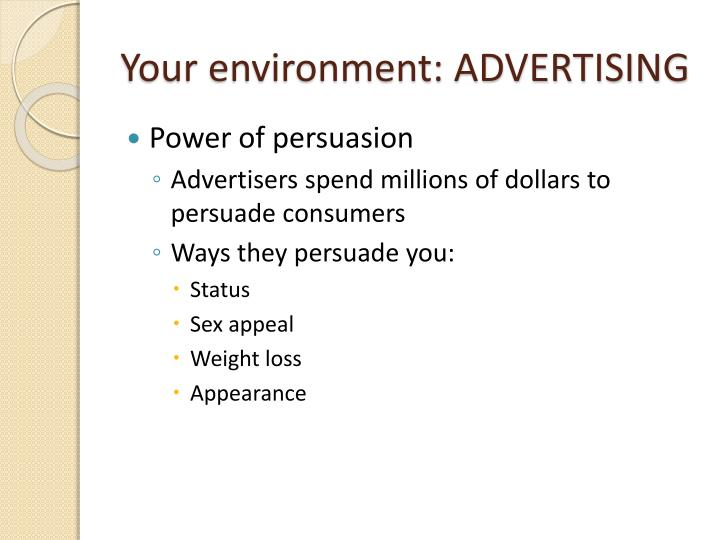 Your environment: ADVERTISING