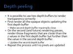 depth peeling