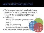 screen door transparency