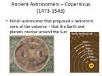 ancient astronomers copernicus 1473 1543