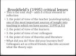 brookfield s 1995 critical lenses