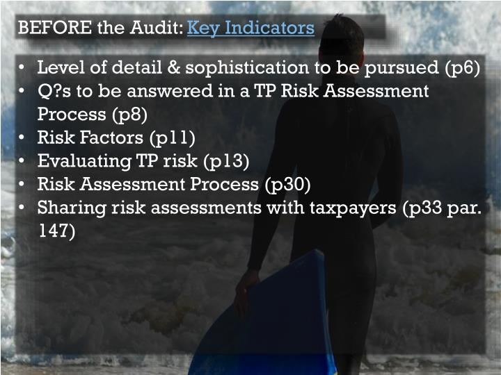 BEFORE the Audit:
