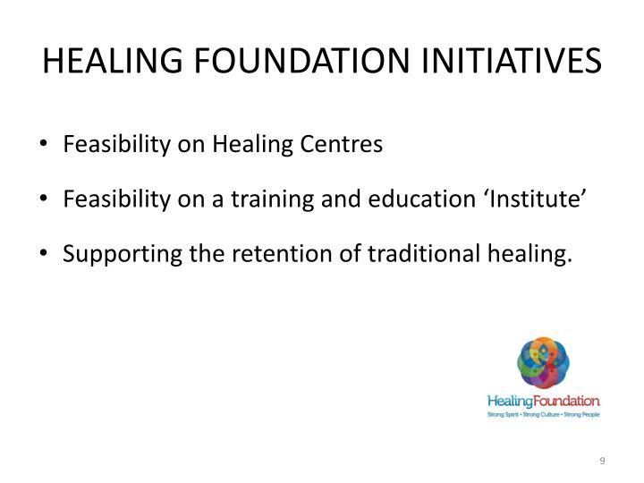 Healing Foundation initiatives
