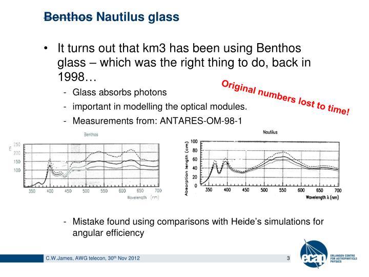 Benthos nautilus glass