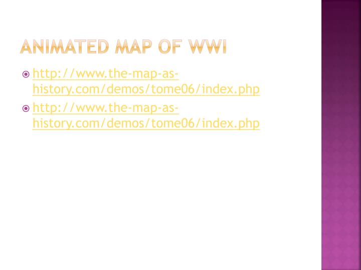 Animated Map of WWI