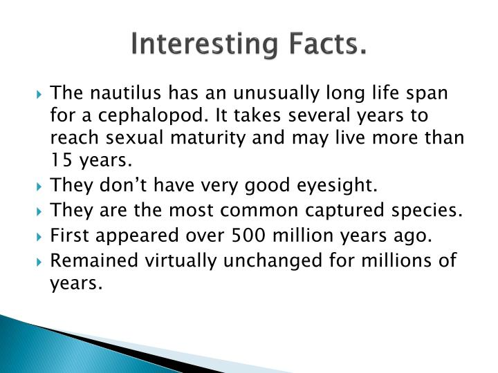 Interesting Facts.