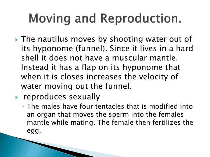 Moving and Reproduction.
