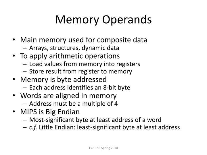 Memory Operands