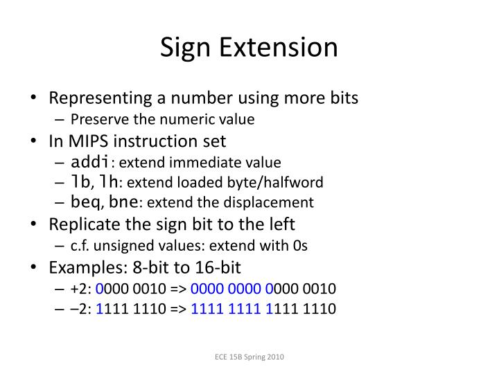 Sign Extension