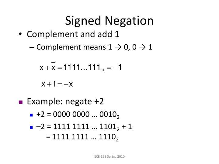 Signed Negation