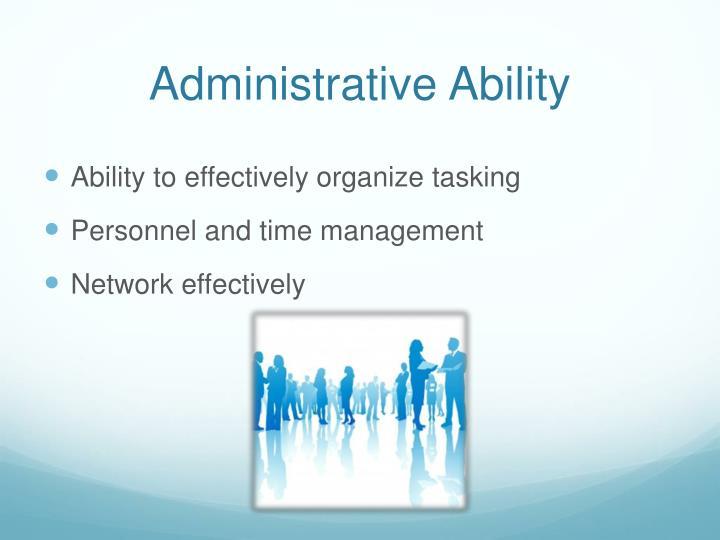 Administrative Ability