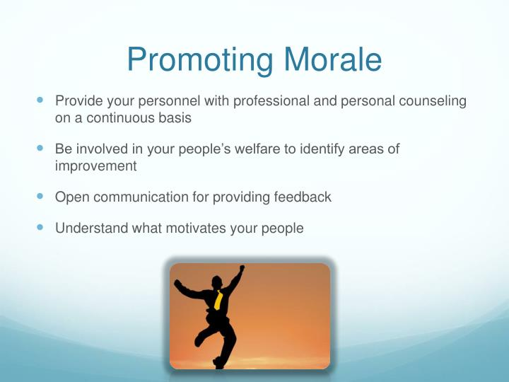 Promoting Morale