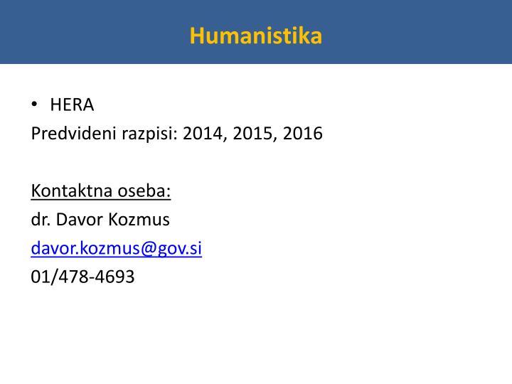 Humanistika