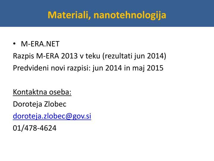 Materiali, nanotehnologija