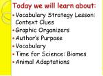 today we will learn about1