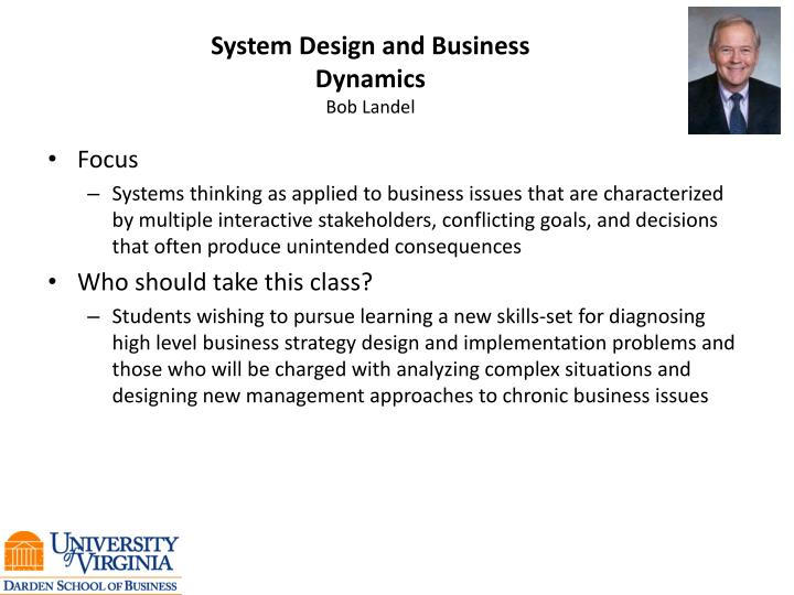 System Design and Business Dynamics