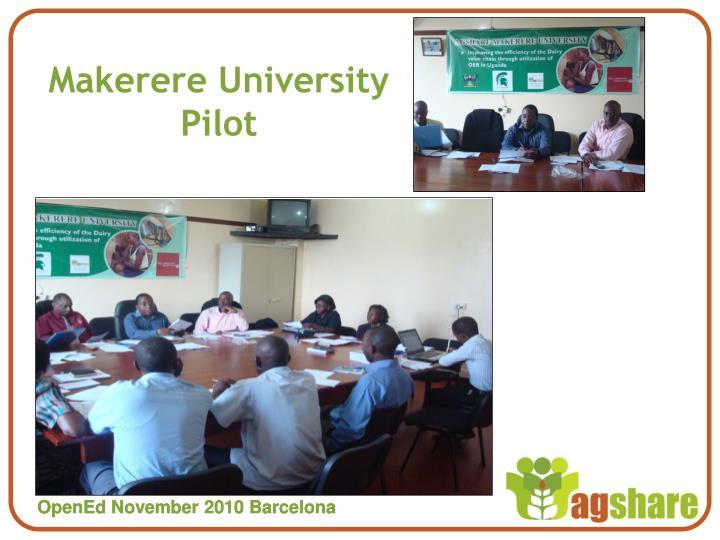 Makerere University Pilot