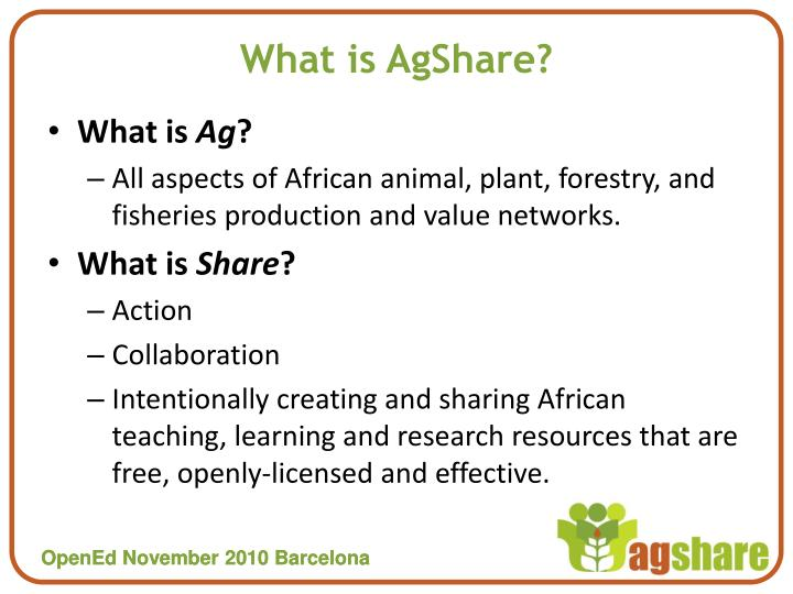 What is agshare
