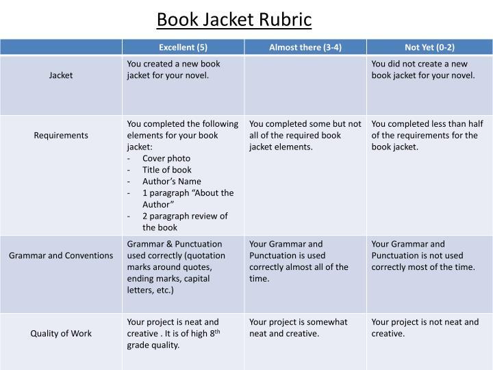 Book Jacket Rubric