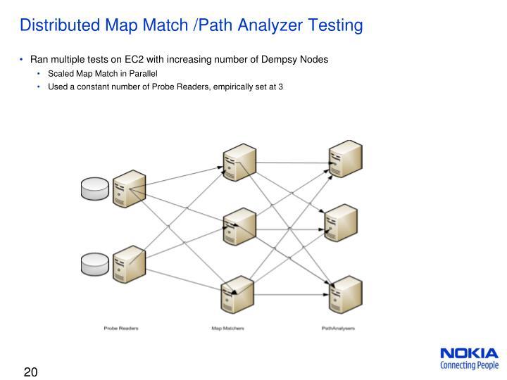 Distributed Map Match /Path Analyzer Testing