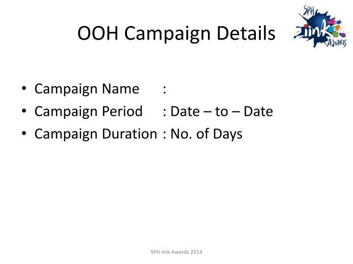 OOH Campaign Details