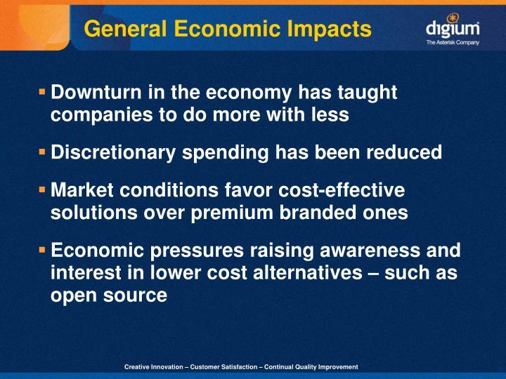 General Economic Impacts