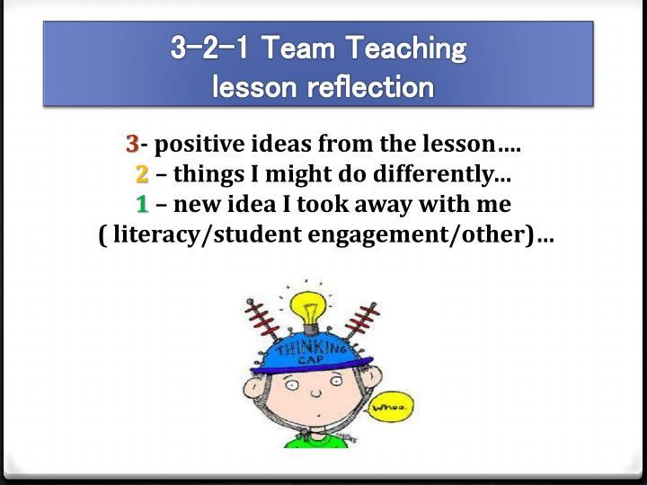 3-2-1 Team Teaching
