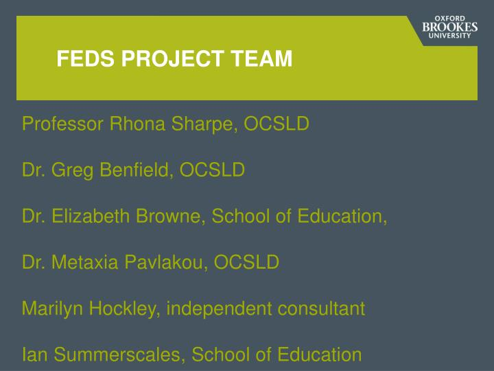 Feds Project team