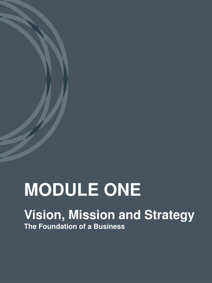 Vision mission and strategy the foundation of a business