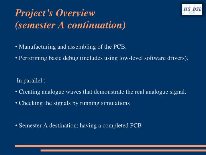 Project's Overview