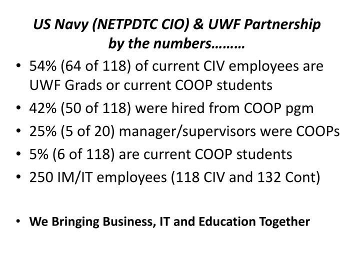Us navy netpdtc cio uwf partnership by the numbers