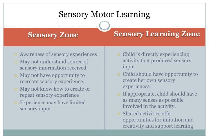 Sensory Motor Learning