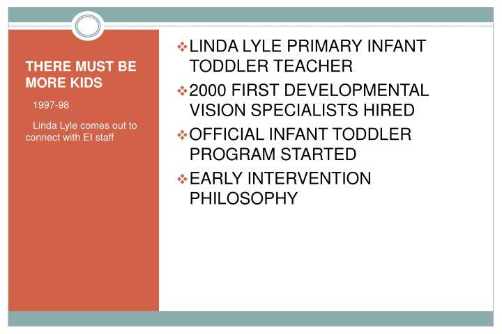 LINDA LYLE PRIMARY INFANT TODDLER TEACHER