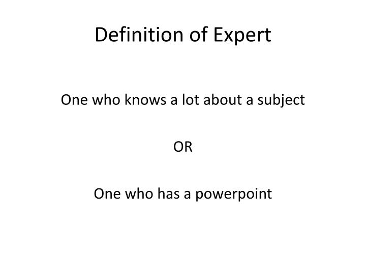 Definition of expert