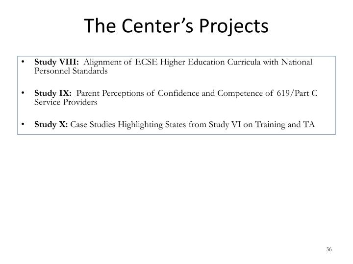 The Center's Projects