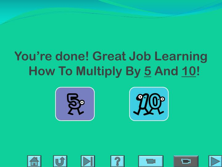 You're done! Great Job Learning How To Multiply By