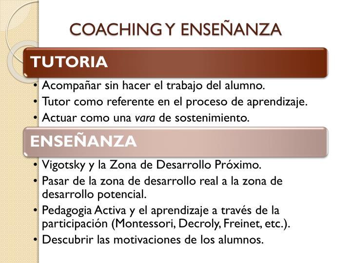Coaching y ense anza