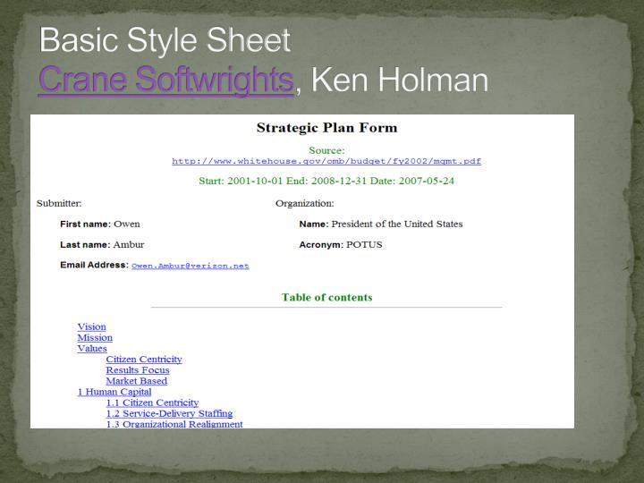 Basic Style Sheet